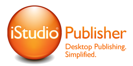 Home page of iStudio Publisher, the page layout application for desktop publishing on Mac