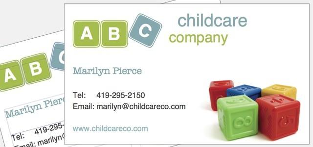 Business card childcare company theme istudio publisher page business card childcare company theme colourmoves