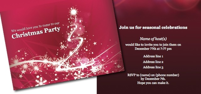 Invitation Christmas party iStudio Publisher Page Layout – Christmas Party Tickets Templates