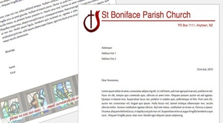 Templates iStudio Publisher Page Layout Software for Desktop – Church Letterhead Template