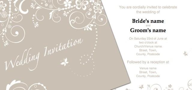 Microsoft Publisher Wedding Invitation Templates