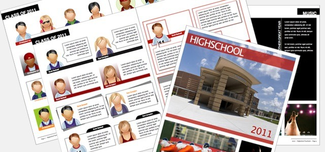 Yearbook high school istudio publisher page layout for Templates for yearbook pages