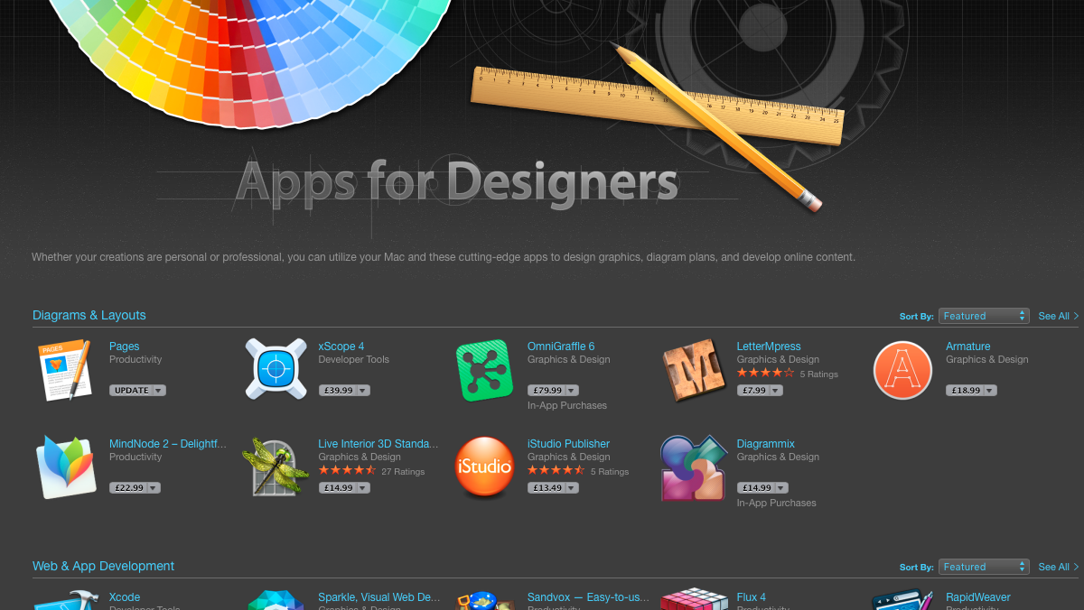iStudio Publisher featured in Apps for Designers