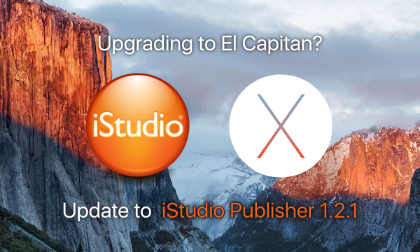 Update iStudio Publisher to 1.2.1 for OS X El Capitan