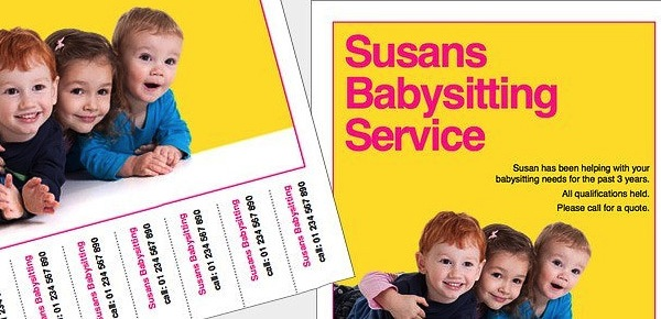 Babysitting Service Flyer