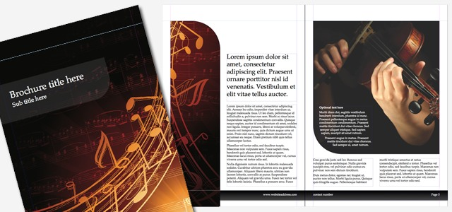 Brochure  Music  Istudio Publisher  Page Layout Software For