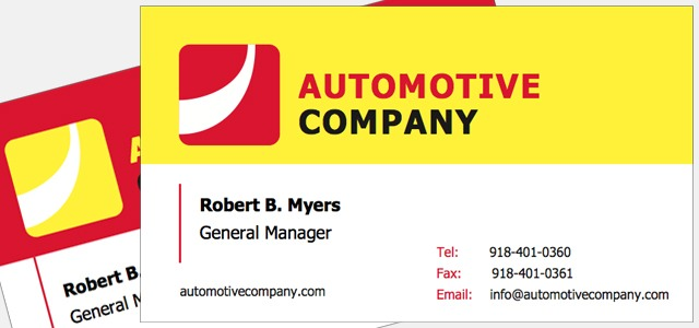 Business card automotive company theme o istudio for Business card publisher template