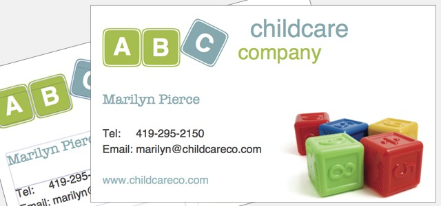 Childcare business cards etamemibawa childcare business cards colourmoves Gallery