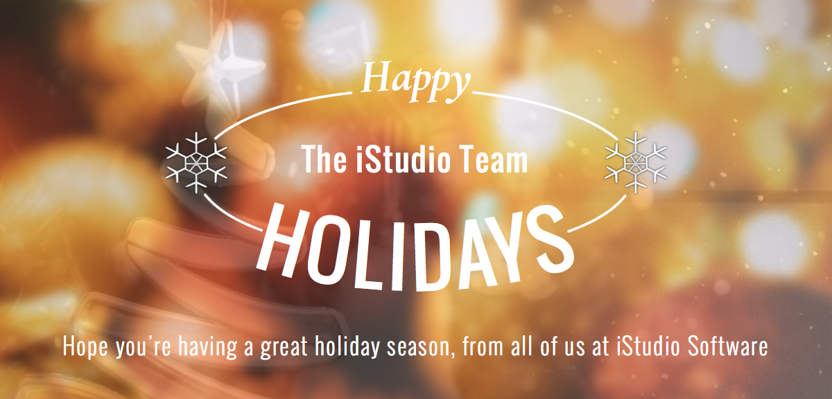Happy Holidays from iStudio Software
