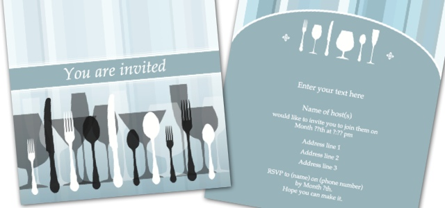 invitation dinner party istudio publisher page layout software for desktop publishing on mac. Black Bedroom Furniture Sets. Home Design Ideas