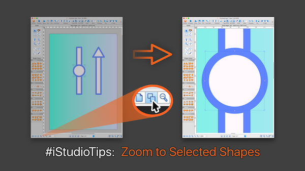 iStudio Tips - zoom to selection