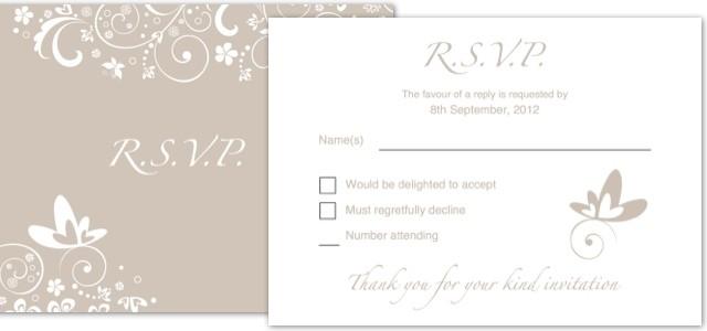 Invitation Wedding Rsvp